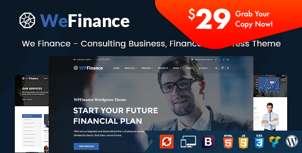 We Finance - Consulting Business WordPress Theme