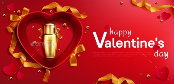 Cosmetics Bottle for Valentine Day in Heart Box