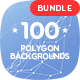 Hitech - 100 Outline Connected Polygon Backgrounds Bundle - GraphicRiver Item for Sale