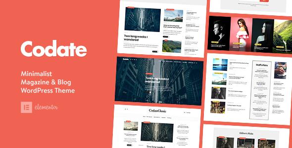 Codate - Modern Magazine and Blog theme