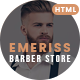 Emeriss - Barber Store HTML Template - ThemeForest Item for Sale