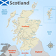 Map of Scotland with Districts - GraphicRiver Item for Sale