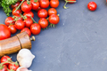 Fresh grape tomatoes with basil and garlic, pepper. - PhotoDune Item for Sale