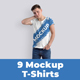 9 Mockups T-Shirts on the Man - GraphicRiver Item for Sale