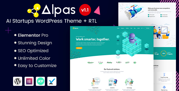 Alpas - AI Startups WordPress Theme