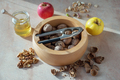 Delights on Morning Breakfast with Apples, Walnuts, Pistachio and Honey - PhotoDune Item for Sale
