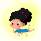 Cartoon Girl Drawing on Paper - GraphicRiver Item for Sale