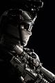 Army elite troops sniper low key studio portrait - PhotoDune Item for Sale