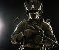 Military security service shooter soldier studio portrait - PhotoDune Item for Sale