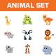 Animal Sticker Set - GraphicRiver Item for Sale
