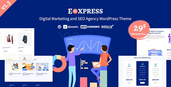 Eoxpress | Marketing Agency WordPress Theme
