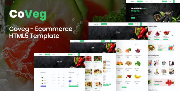 Coveg - Vegetable and Multipurpose Ecommerce Responsive HTML5 Template.