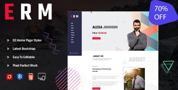 ERM-Personal Portfolio Template