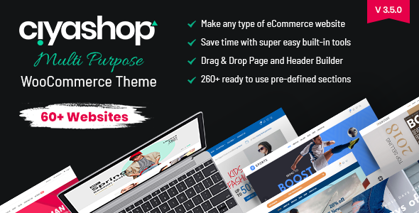 CiyaShop - Responsive Multi-Purpose WooCommerce WordPress Theme