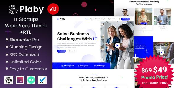 Plaby - IT Startup WordPress Theme