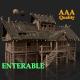 SLAVIC MEDIEVAL ORC VILLAGE WOODEN HOUSE TOWER COTTAGE HUT - 3DOcean Item for Sale