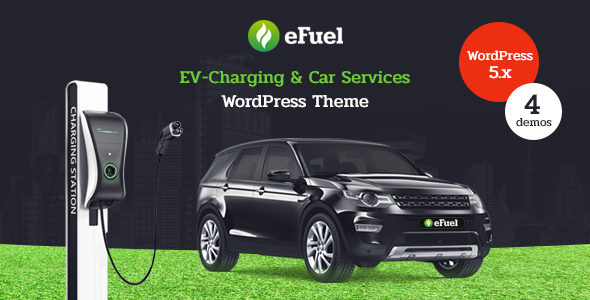 Efuel - Electric Car Rental & EV Charging WordPress Theme