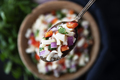 Close up of Vegan Salad in Spoon - PhotoDune Item for Sale