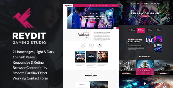 Reydit - Gaming Studio HTML Template