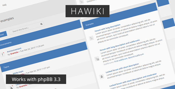 Hawiki - Forum Theme