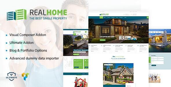 Single Property Real Estate Theme