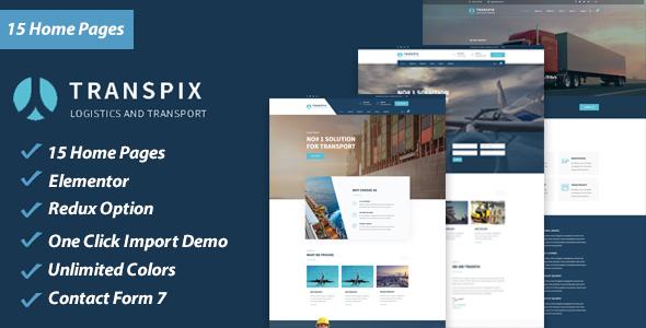 Transpix - Logistics Warehouse WordPress Theme