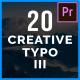 20 Creative Typo III - VideoHive Item for Sale