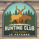 Hunting Club Patches - GraphicRiver Item for Sale