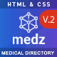 Medz - Medical Directory HTML Template - ThemeForest Item for Sale
