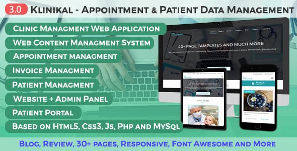 Klinikal - Appointment & Patient Data Management Responsive Web Application