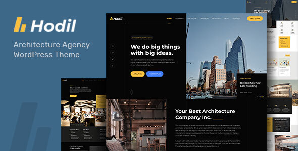 Hodil – Architecture Agency WordPress Theme Preview