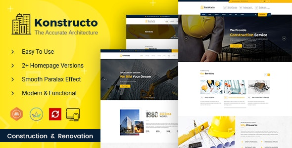 Konstructo - Construction and Architecture WordPress Theme