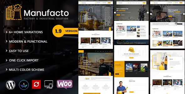 Manufacto -  Factory WordPress Theme