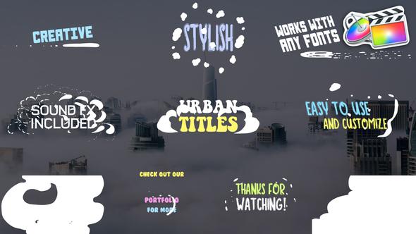 Urban Titles   FCPX