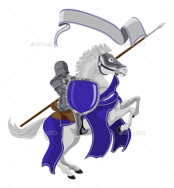 Medieval Joust Knight on Horse