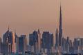 view of Dubai downtown with Burj Khalifa - PhotoDune Item for Sale