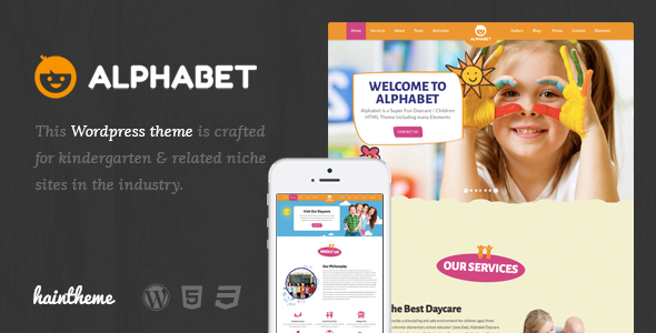 Alphabet - Kids, Children WordPress Theme