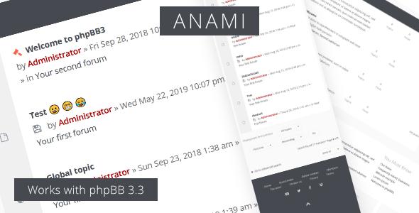 Anami - Responsive phpBB3 Forum Theme