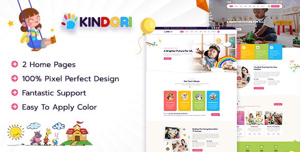 Kindori - Kids & Kindergarten School PSD Template