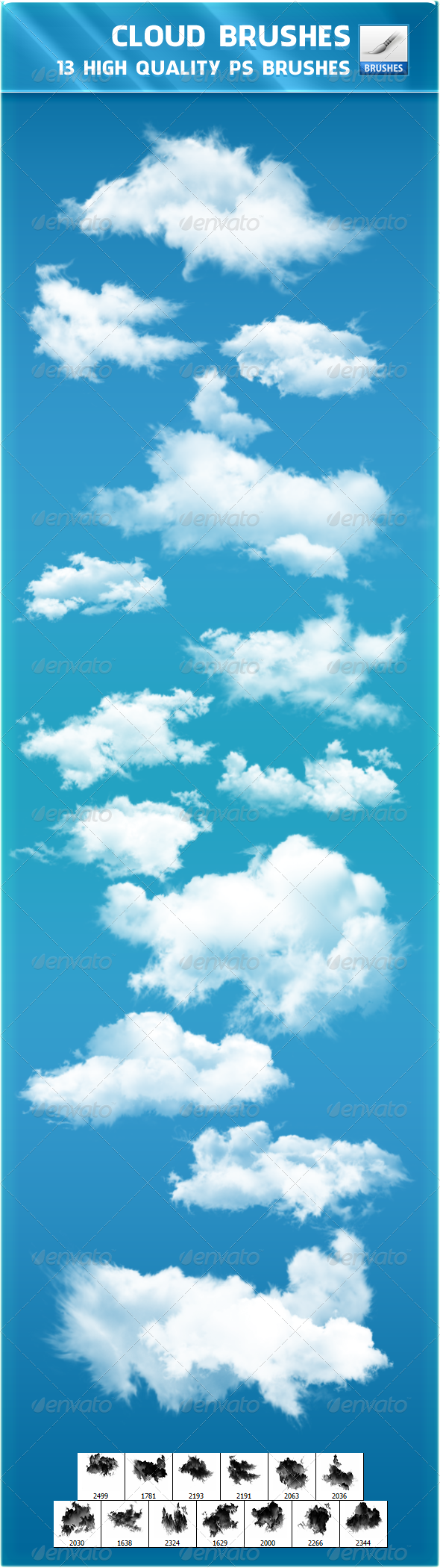 Sky Random Photoshop Brushes from GraphicRiver