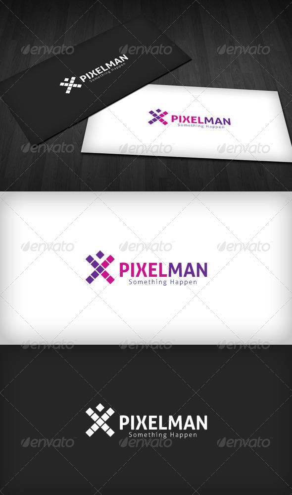 Pixel Man Logo