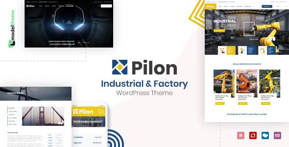 Pilon – Industrial & Factory WordPress Theme Preview