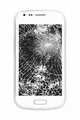 Smartphone with damaged screen isolated on white. Repair equipment. Crash - PhotoDune Item for Sale