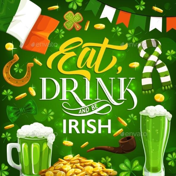 Patricks Day Symbols, Food and Drinks