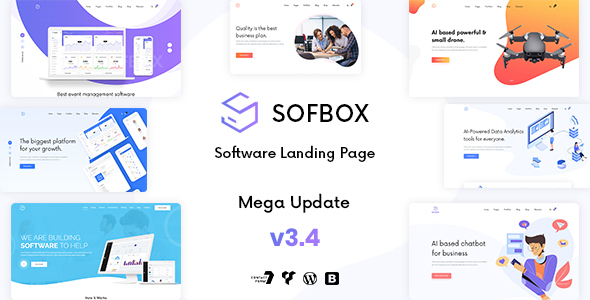 Sofbox - WordPress SaaS Software Landing Page