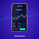 Realistic Detailed Mobile Stock Investment Trading Concept - GraphicRiver Item for Sale