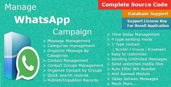 Manage WhatsApp Campaign - Automate WhatsApp Messaging - Business Marketing - Bulk Sender