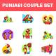 Punjabi Couple Sticker Set - GraphicRiver Item for Sale