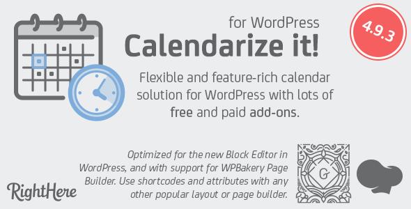 Calendarize it! for WordPress - Wordpress plugins - Hire Wordpress Freelancers from FreelancerCV.com