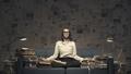 Businesswoman practicing yoga and meditation - PhotoDune Item for Sale